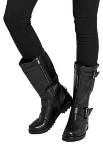 Gentle Souls Pebbled Leather Black Boots