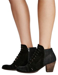 Free People Suede Eclectic Festival Black Boots