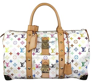 Louis Vuitton Keepall Keepall 45 White Neverfull Multi Color Travel Bag