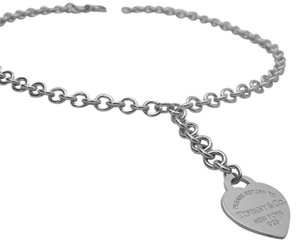 Tiffany & Co. Please Return to Tiffany &Co Sterling Silver Heart Choker Necklace 925
