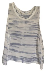 LACAUSA Revolve Muscle Tee Top blue