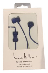 Nicole Miller Nicole Miller Round Interlock Stereo Earbud w/In-Line Microphone