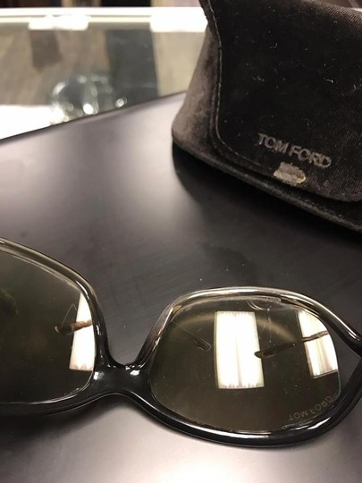 Tom Ford Tom Ford Jennifer TF8 Brown Metal & Plastic Square Sunglasses Image 2