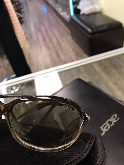 Tom Ford Tom Ford Jennifer TF8 Brown Metal & Plastic Square Sunglasses Image 5