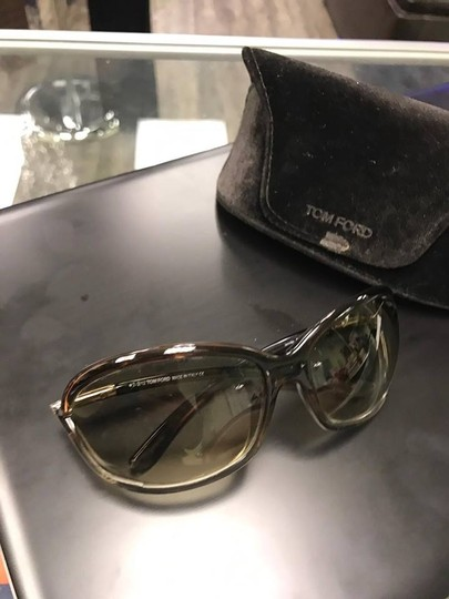 Tom Ford Tom Ford Jennifer TF8 Brown Metal & Plastic Square Sunglasses Image 7