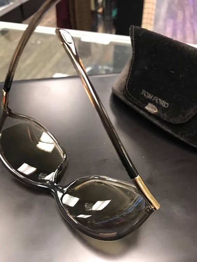Tom Ford Tom Ford Jennifer TF8 Brown Metal & Plastic Square Sunglasses Image 8