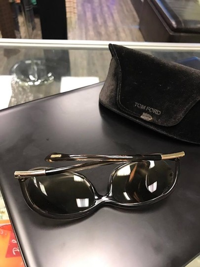 Tom Ford Tom Ford Jennifer TF8 Brown Metal & Plastic Square Sunglasses Image 9