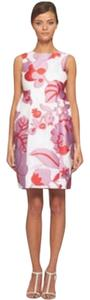 Diane von Furstenberg short dress pink Floral Dvf on Tradesy