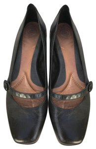 Other Work Padded Low Heel Mary Jane Black Pumps