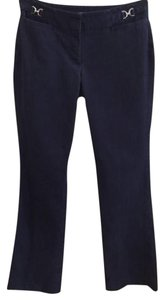 New York & Company Casual Boot Cut Pants Blue