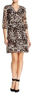 Diane von Furstenberg Animal Print Snow Cheetah Silk Chiffon Dvf Dress