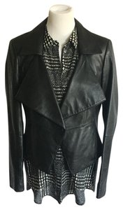 Andrew Marc Leather Short Moto Motorcycle Jacket