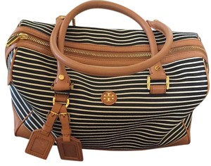 Tory Burch Camel/ With Stripes Travel Bag