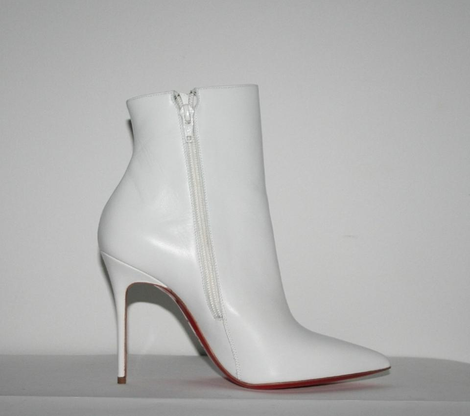 wholesale dealer b0600 ee77f Christian Louboutin White So Kate Leather Boots/Booties Size US 7
