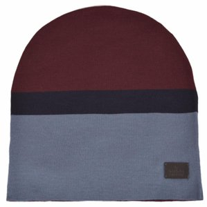 Gucci Gucci Men's 353499 Wool Burgundy Blue Tab Logo Beanie Hat Large