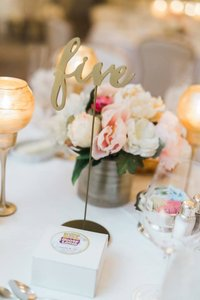 Floral Centerpiece With 3 Votive Candle Holders