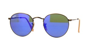 Ray-Ban RB 3447 167/68 - BLUE MIRROR ROUND RAY BAN - Free 3 Day Shipping