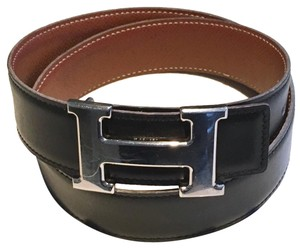 Herms Hermes H Buckle Constance Reversible Leather Belt