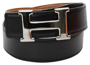 Hermès Black and Tan Reversible Constance Belt