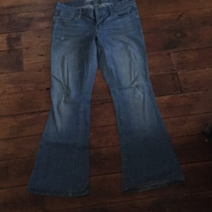American Eagle Outfitters Flare Leg Jeans-Light Wash