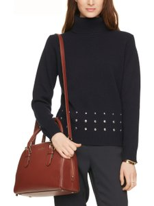 Kate Spade Leather Satchel in dark roast