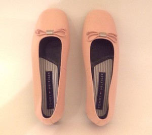 Tommy Hilfiger Ballerina Flat Leather Pink Flats