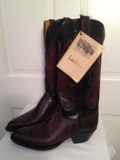 Lucchese Black Cherry Boots