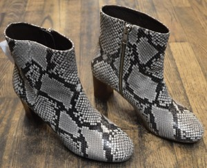 J.Crew Heeled Ankle Gray Boots