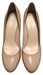 Nine West Stilettos Heels Patent Leather Color Heels NUDE Pumps