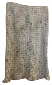 Emanuel Ungaro Tweed Chanel Office Skirt Black and White