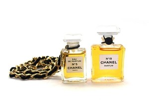 Chanel CC Perfume Chain Necklace Set 211291