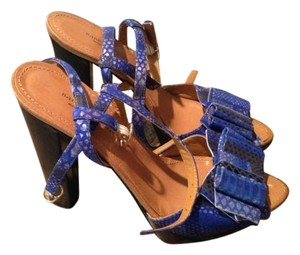 Nanette Lepore Leather Blue Platforms