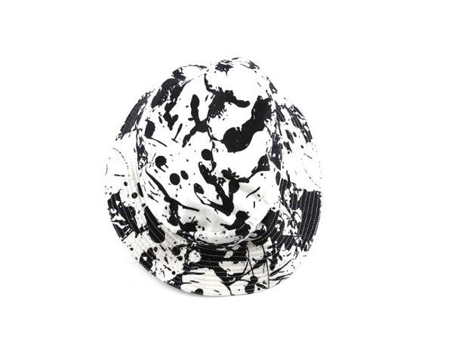 Item - White X Black Paint Splatter H 211001 Hat