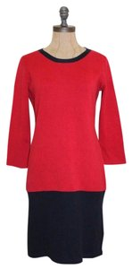 Banana Republic short dress RED Sweatshirt Color-blocking Shift on Tradesy