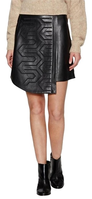 Preload https://img-static.tradesy.com/item/20191270/tibi-black-lambskin-leather-embroidered-lace-leather-wrap-miniskirt-size-4-s-27-0-1-650-650.jpg