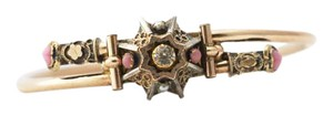 Other Antique Victorian Bypass Bracelet, Ornate Etruscan Revival