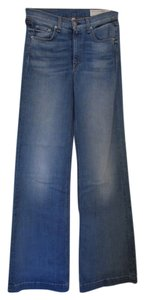 Rag & Bone Trouser/Wide Leg Jeans-Light Wash