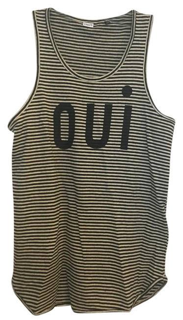 Item - Black and White Oui Tank Top/Cami Size 2 (XS)