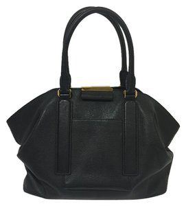 Michael Kors Tote Leather Satchel in Black