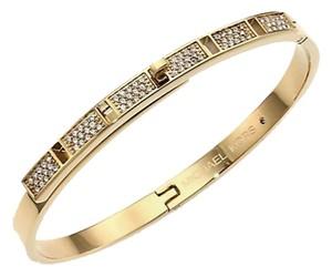 Michael Kors Crystal Pave Turnlock Hinge Bangle Bracelet