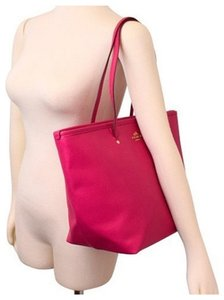 Coach F34103 Crossgrain Leather Tote in PINK RUBY