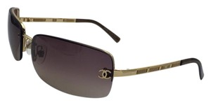 Chanel Rimless Gold and Brown Chanel Sunglasses 4113 c.292/13 65