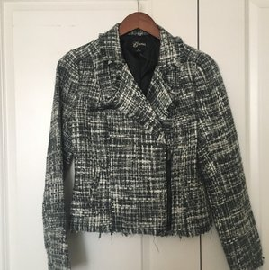 Guess Tweed Lined Black, Grey and White Blazer