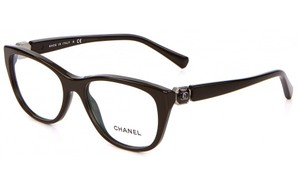 Chanel NEW Chanel 3285A Brown Cat Eye Logo Frames Eyeglasses