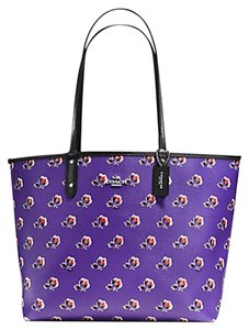 Coach Satchel 36126 36609 Tote in SILVER/PURPLE MULTI BLACK