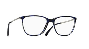 Chanel NEW Chanel CH 3294B Blue Tweed Crystal Leg Oversized Eyeglasses