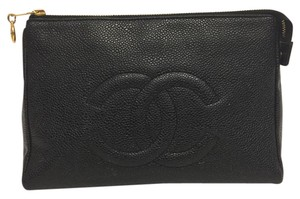 Chanel Chanel Caviar Leather Cosmetic Case