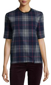 Rag & Bone Checkered Casual Comfortable Top Navy, Grey, Red