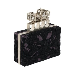 Alexander McQueen Black and Purple Clutch