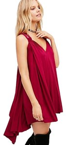 Free People short dress Magenta Red Beach Modal Festival on Tradesy